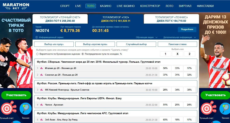 Список российских букмекерских кон