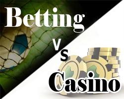 Ставки на спорт VS онлайн казино