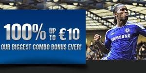 Промо-акция этой недели от букмекерской конторы 10Bet – 100% бонус до 10€