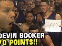 20-летний защитник Финикса Девин Букер набрал 70 очков в матче с Бостоном