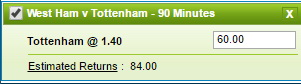 Ставка на АПЛ. Вест Хэм Юнайтед — Тоттенхэм Хотспур: прогноз на матч 36-го тура сезона 2016/2017 - не прошла.
