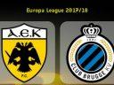 Лига Европы. АЕК Афины – Брюгге. Прогноз на матч 24.08.17