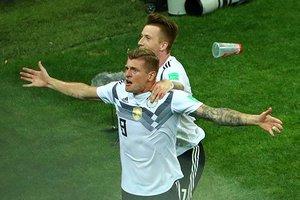 Волевая победа Германии, голевая феерия Бельгии и другие события 23 июня 2018 года