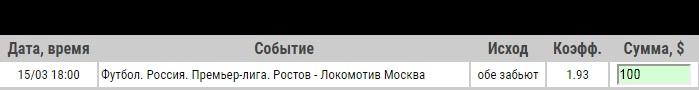Ставка на РПЛ. Ростов – Локомотив Москва: анонс, прогноз и ставка на матч 15 марта 2020 года - ожидается.