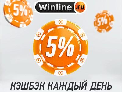 Букмекерская контора Winline предлагает клиентам кэшбек на каждый день